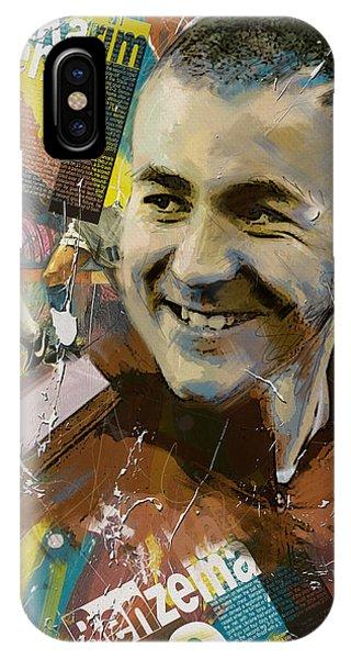 Borussia Dortmund iPhone Case - Karim Benzema - B by Corporate Art Task Force