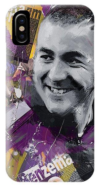 Borussia Dortmund iPhone Case - Karim Benzema - C by Corporate Art Task Force
