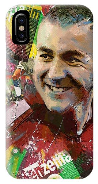 Borussia Dortmund iPhone Case - Karim Benzema by Corporate Art Task Force