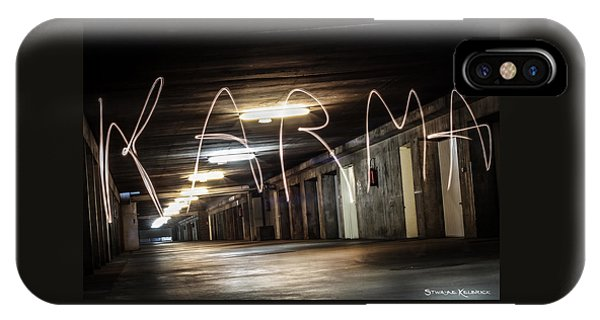 IPhone Case featuring the photograph Karma Light Painting by Stwayne Keubrick