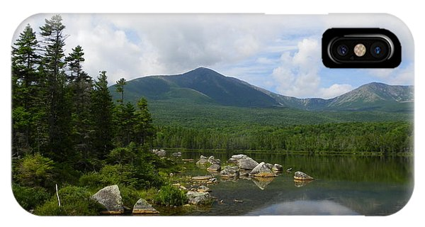 Katahdin At Sandy Stream Pond 1 IPhone Case