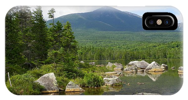 Katahdin Framed At Sandy Stream Pond IPhone Case