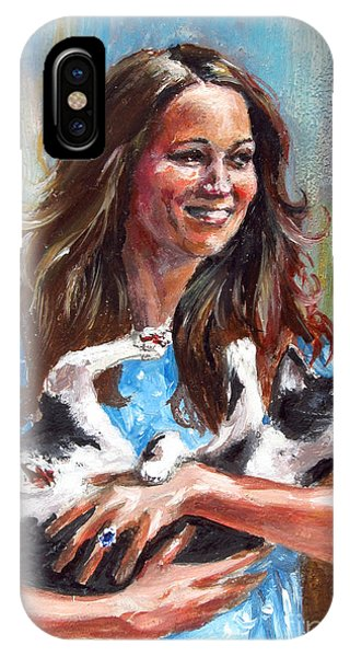 Kate Middleton Duchess Of Cambridge And Her Royal Baby Cat IPhone Case