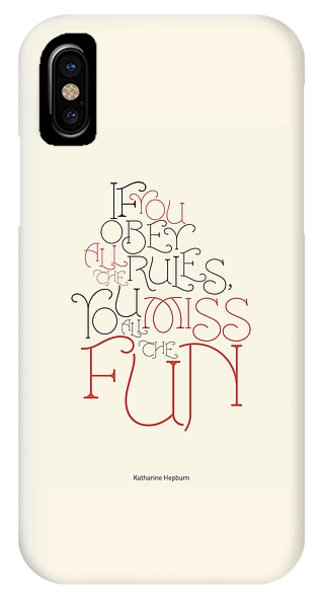 Cute iPhone Case - Katharine Hepburn Typographic Quotes Poster by Lab No 4 - The Quotography Department