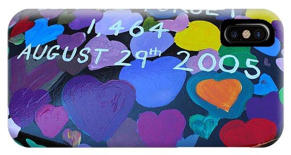 Katrina Casket Memorial Inscription IPhone Case