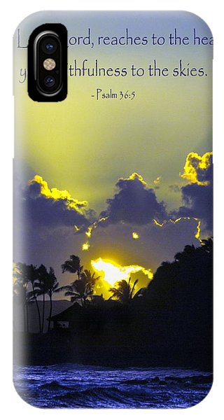 Kauai Sunset Psalm 36 5 IPhone Case
