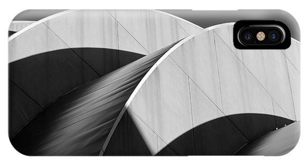 Kauffman Center Curves And Shadows Black And White IPhone Case