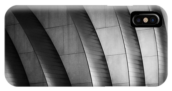 Kauffman Performing Arts Center Black And White IPhone Case