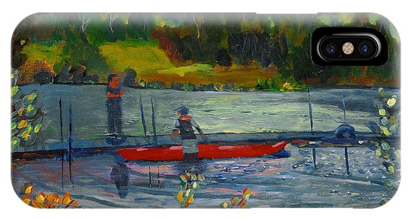 Kayak At Kittatinny IPhone Case