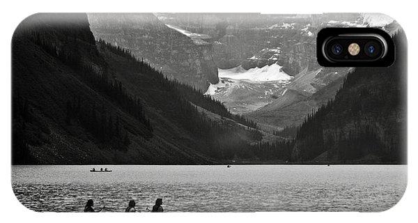 Kayak On Lake Louise IPhone Case