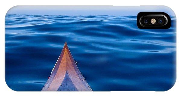 Kayak On Velvet Blue IPhone Case