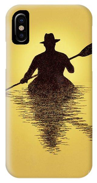 Kayaker Sunset IPhone Case