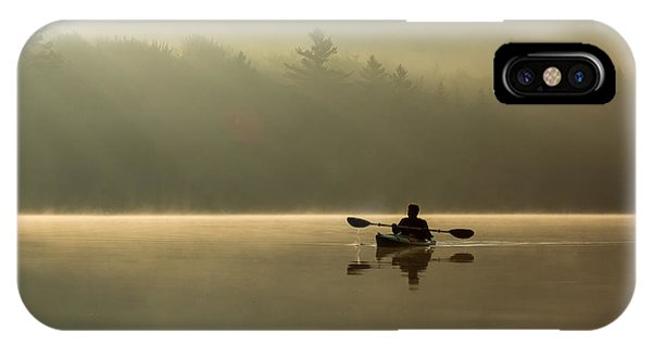 Kayaking At Sunup IPhone Case