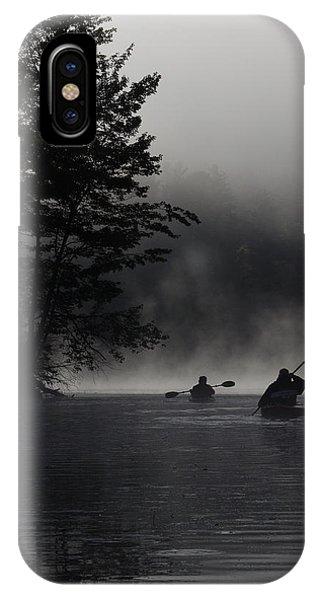 Kayaking In The Fog IPhone Case