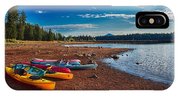 Kayaking On Howard Prairie Lake In Oregon IPhone Case