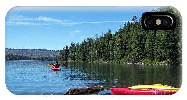 Kayaking On Suttle Lake IPhone Case