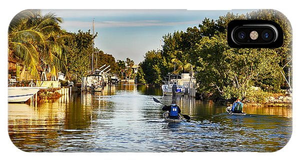 Kayaking The Canals IPhone Case