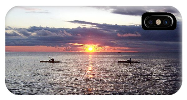 Kayaks At Sunset IPhone Case