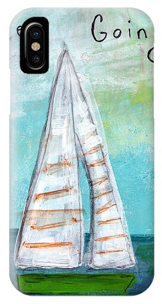 Sailboat iPhone Case - Keep Going- Sailboat Painting by Linda Woods