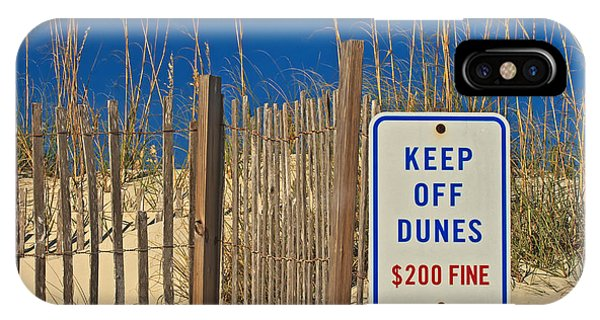 Keep Off Dunes IPhone Case