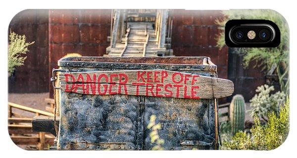 Keep Off Trestle Phone Case by Eddie Yerkish