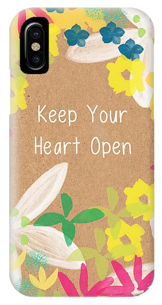 Wedding Gift iPhone Case - Keep Your Heart Open by Linda Woods