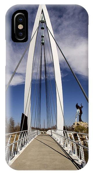 Keeper Of The Plains Bridge View IPhone Case