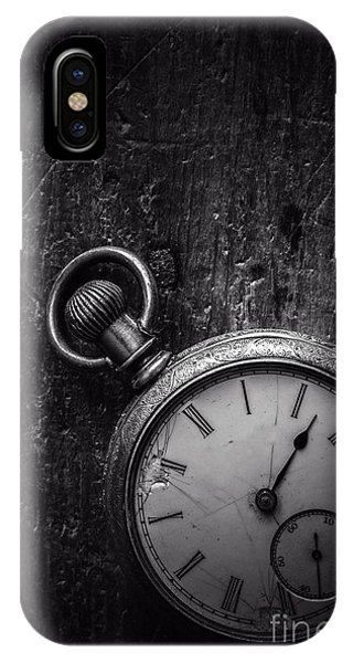Small Business iPhone Case - Keeping Time Black And White by Edward Fielding