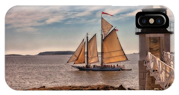 New England Coast iPhone Case - Keeping Vessels Safe by Karol Livote