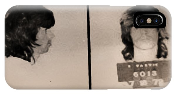IPhone Case featuring the photograph Keith Richards Mugshot - Keith Don't Go by Digital Reproductions