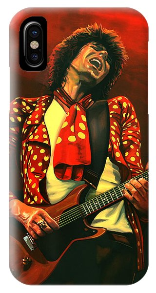 Rolling Stone Magazine iPhone Case - Keith Richards Painting by Paul Meijering