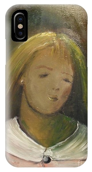 IPhone Case featuring the painting Kelly by Laurie Lundquist