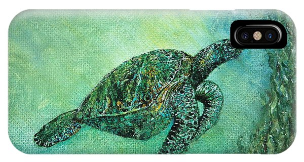 Kelp Forest Sea Turtle IPhone Case