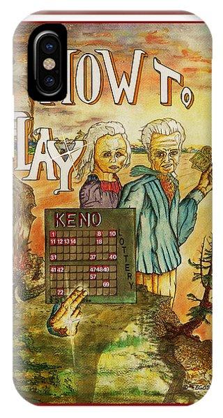 Debts iPhone Case - Keno Gambling Small Bet Big Win by Michael Shone SR