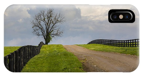 Kentucky Horse Farm Road IPhone Case