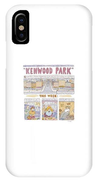 Robert De Niro iPhone Case - Kenwood Park by Roz Chast