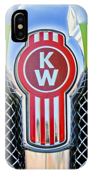 Famous Artist iPhone Case - Kenworth Truck Emblem -1196c by Jill Reger