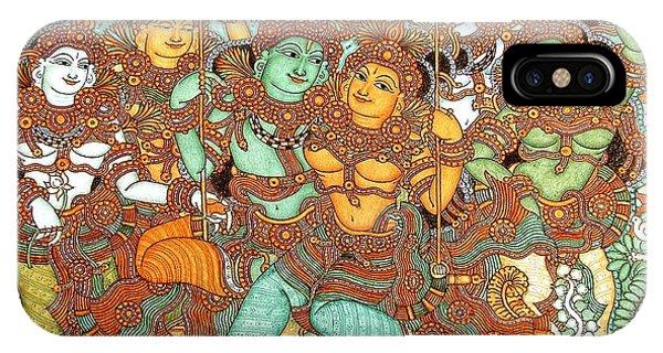 Kerala Mural Painting IPhone Case