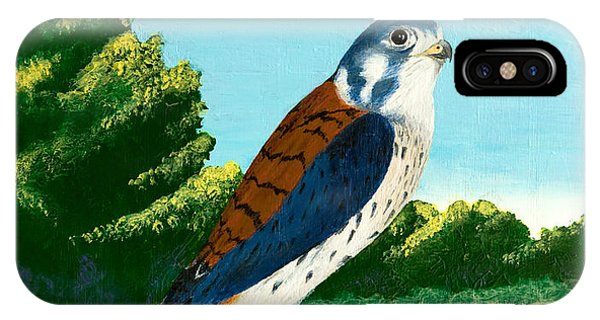 Kestrel And Flowers IPhone Case