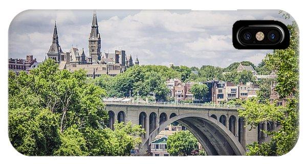 Key Bridge And Georgetown University IPhone Case