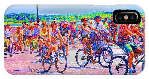Key West Bike Ride IPhone Case