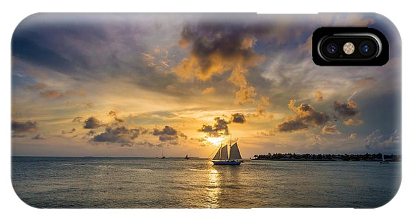 Key West Florida Sunset Mallory Square IPhone Case