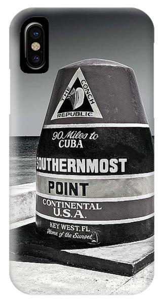 Key West Cuba Distance Marker IPhone Case
