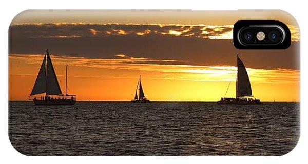 Key West Sunset Fleet IPhone Case