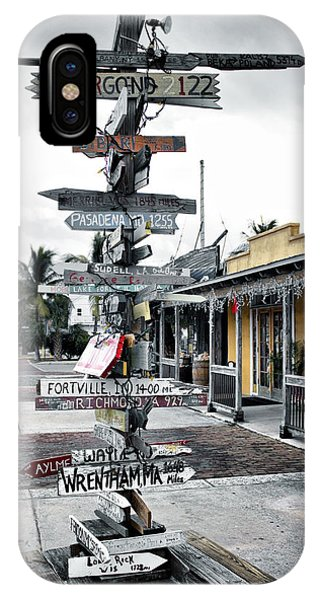 Key West Wharf IPhone Case