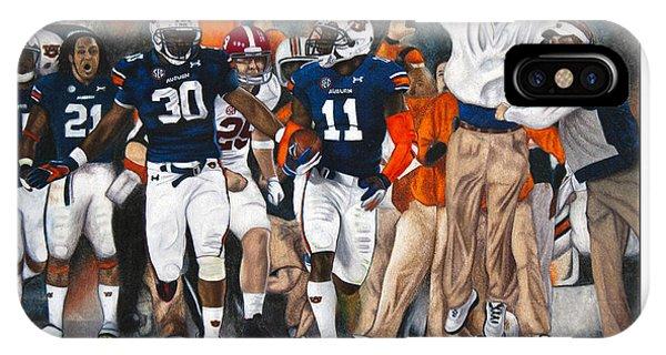 Alabama iPhone Case - Kick Six by Lance Curry