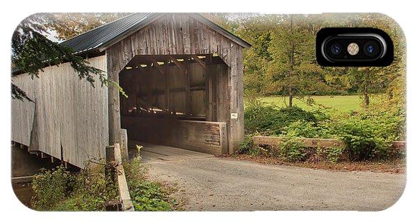 Kidder Hill Covered Bridge IPhone Case