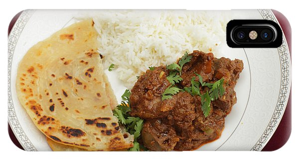 Kidney Masala Meal From Above IPhone Case