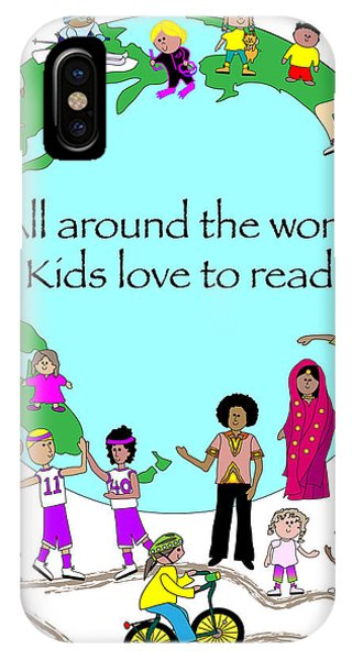 Kids Love To Read Phone Case by Chris Morningforest