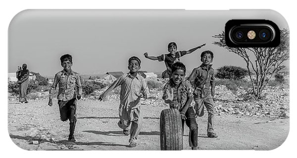 Asia iPhone Case - Kids Playing by Mohammad Shefaa